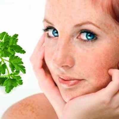 Face Mask For Freckles With Parsley