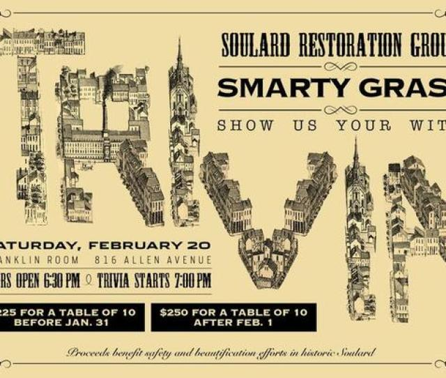 Soulard Smarty Gras Show Your Wits