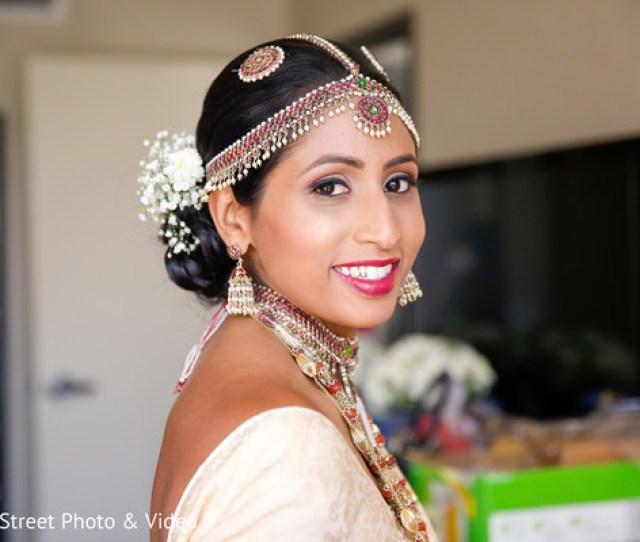 Sri Lankan Bridesri Lankan Bride Hair And Makeupgetting Ready