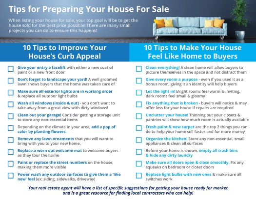 20 Tips for Preparing Your House for Sale [INFOGRAPHIC] | Simplifying The Market