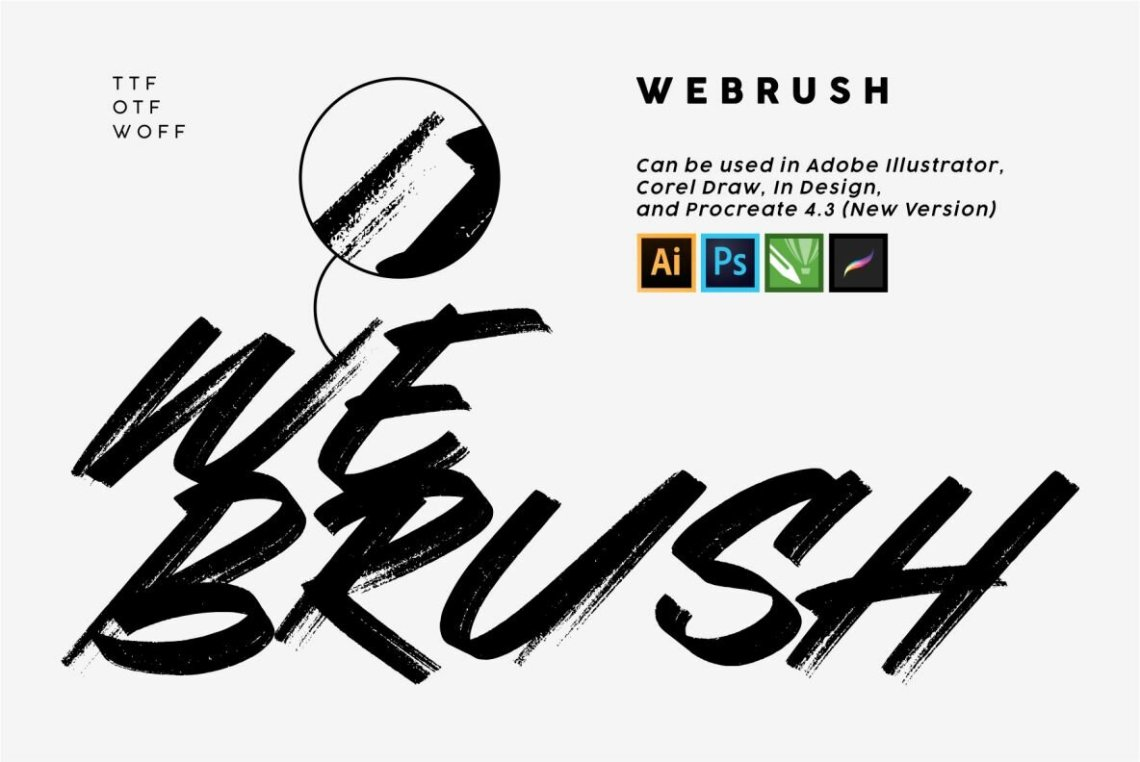 Download Webrush - Desktop Font & WebFont - YouWorkForThem
