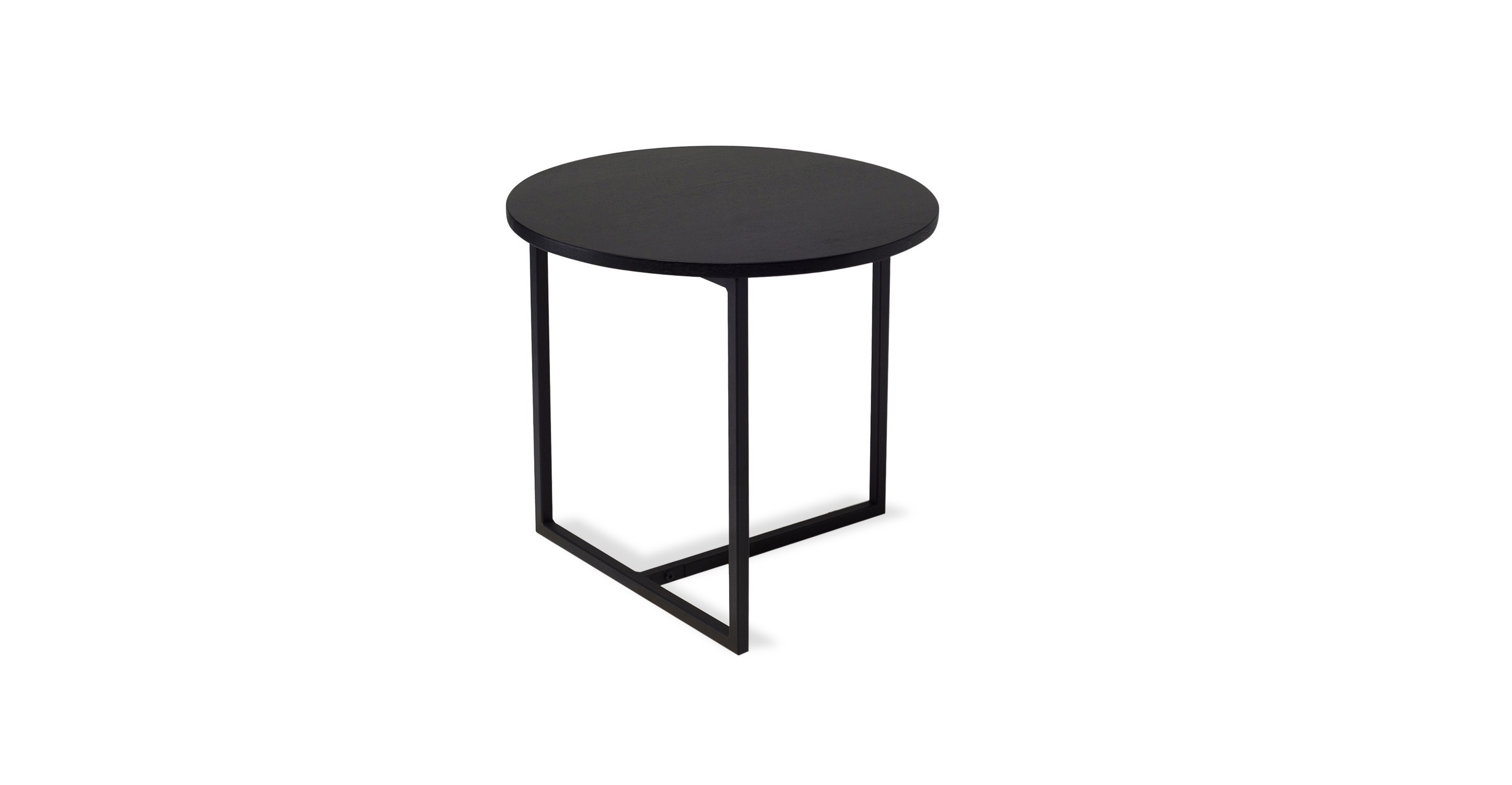 Turner Black Round End Table