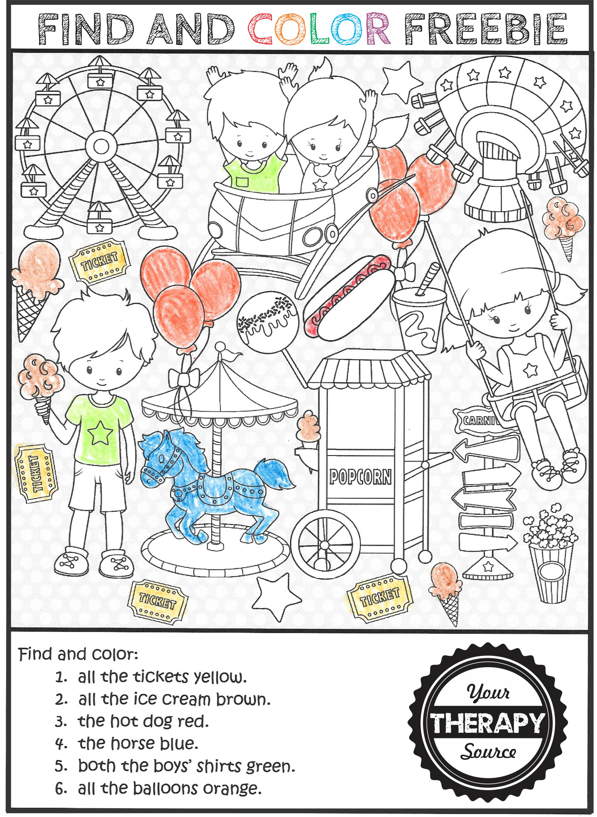 Find And Color Activities