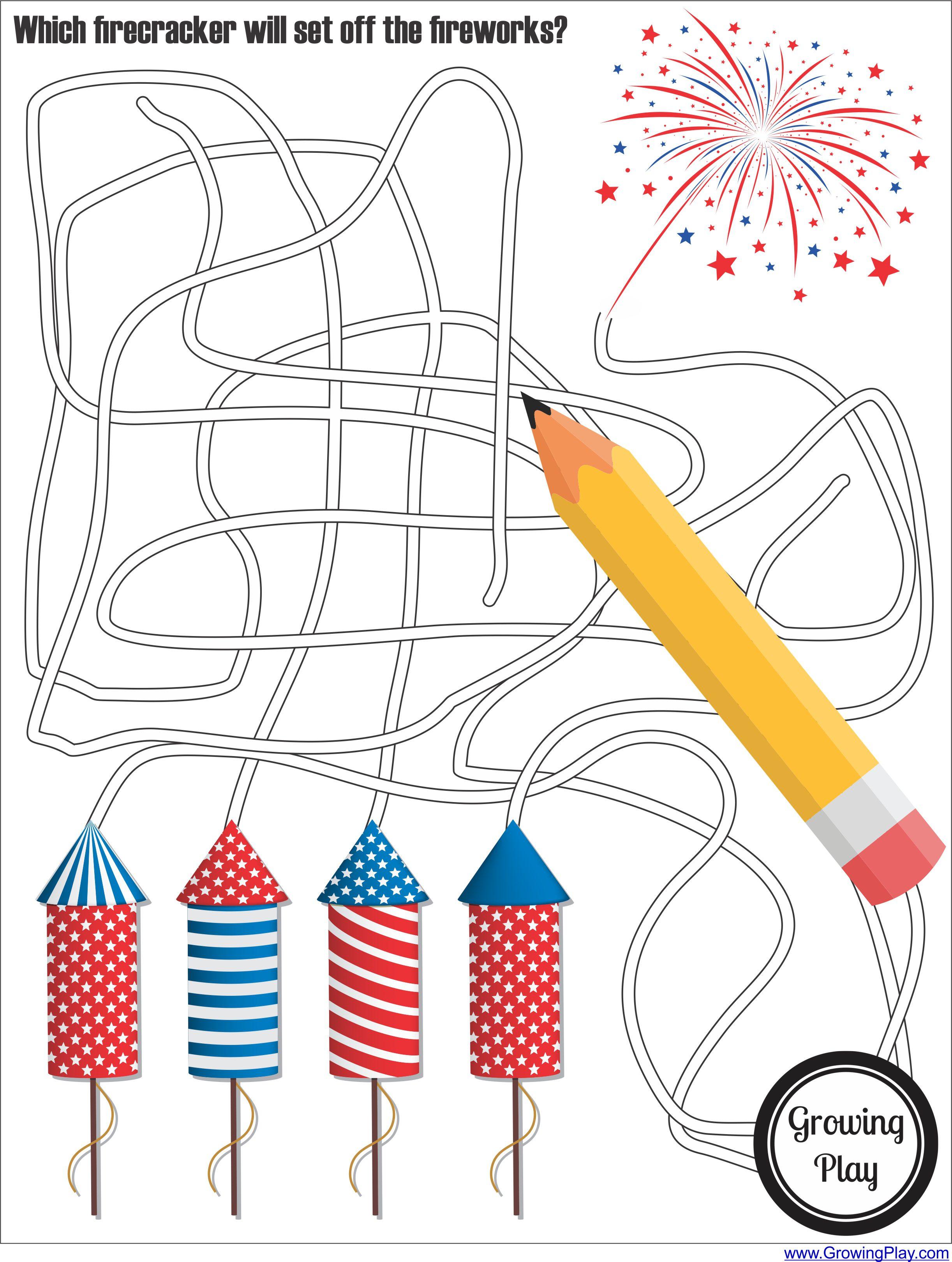 Fireworks Patriotic Maze