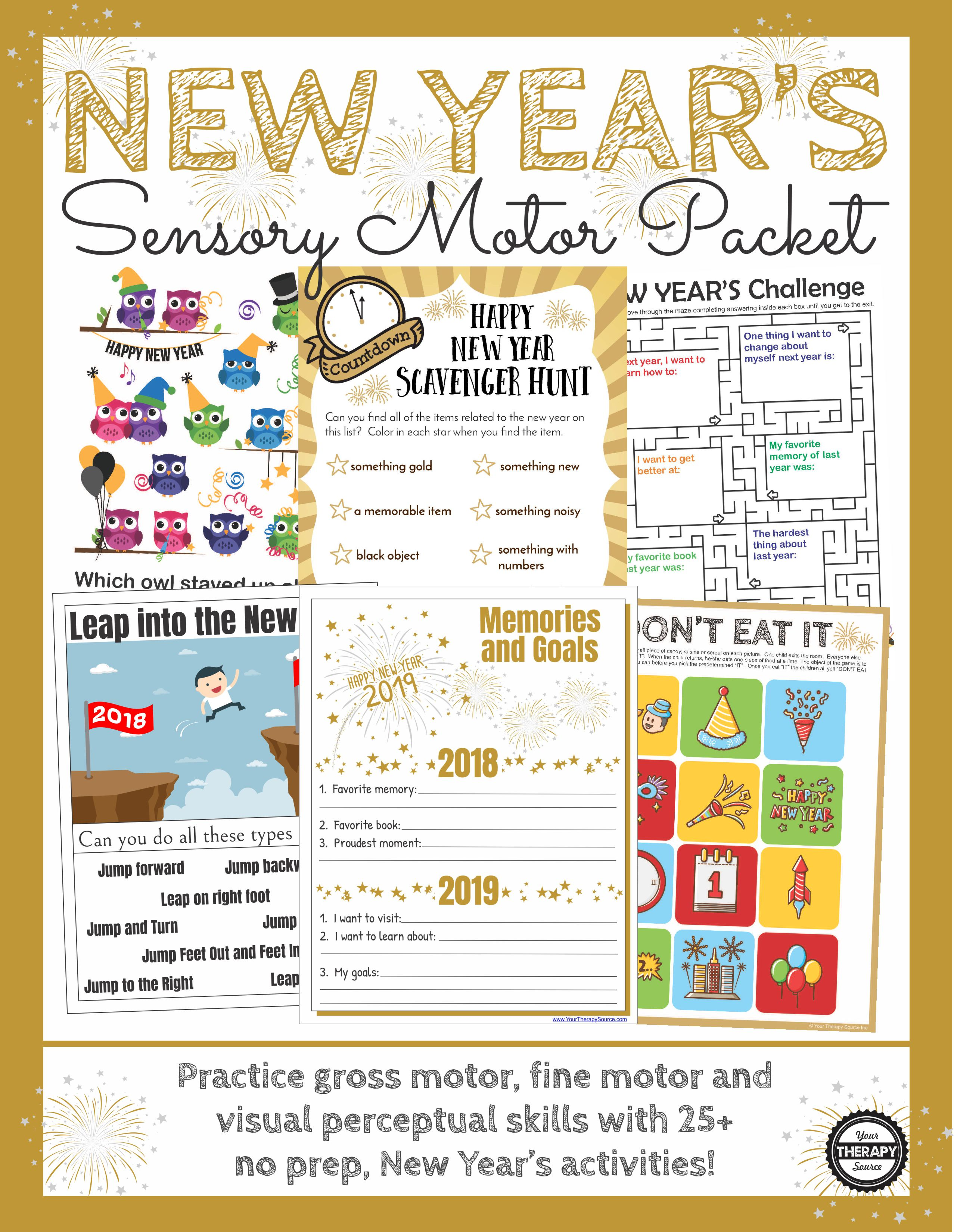 New Year S Games And Activities Packet
