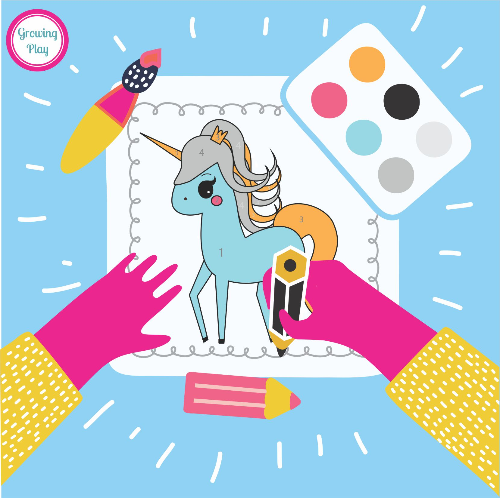 Unicorn Color By Number Freebie