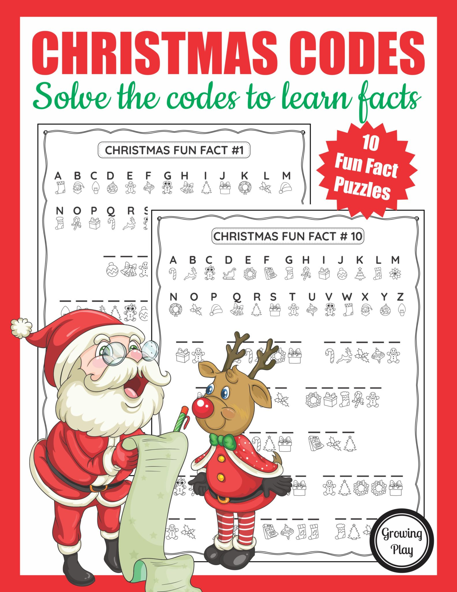 Christmas Crack The Code Puzzle Packet