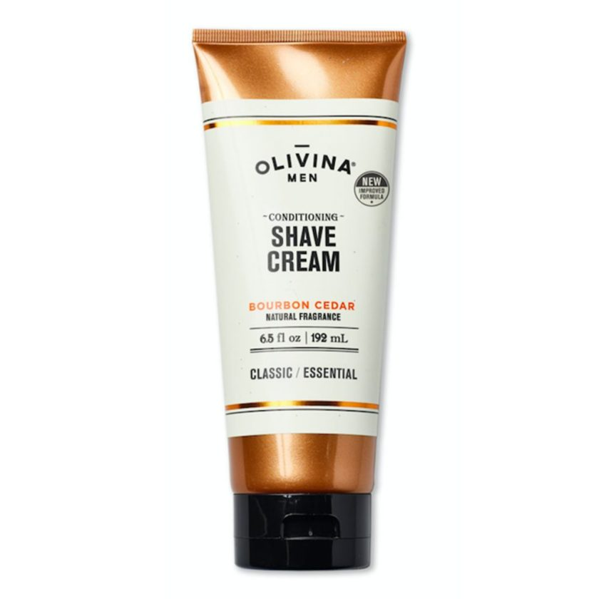Men's grooming products with cannabis: Conditioning Shave Cream by Olivina Men