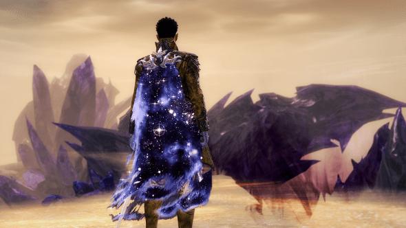 Screenshot eines Charakters mit Sternengeborenem Umhang.