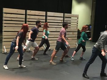 Part of the Plan cast in rehearsal