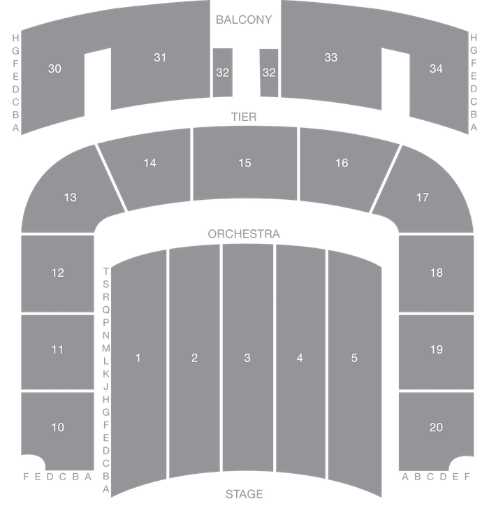 War Memorial Auditorium seat map