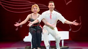 couple performing in Irving Berlin's White Christmas