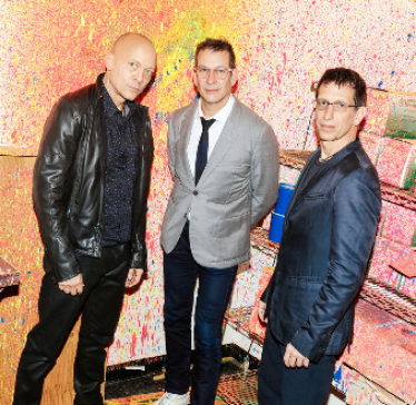 Chris Wenk (left), Phil Stanton (middle) and Matt Goldman (right) co-founded and performed in the 'Blue Man Group' in New York City in 1991.