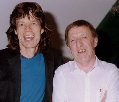 Paddy Moloney with Mick Jagger.