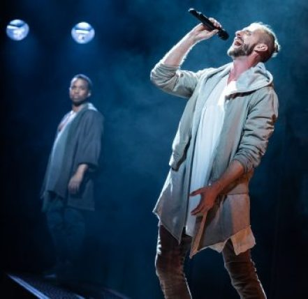 James Delisco Beeks and Aaron LaVigne in the North American Tour of 'Jesus Christ Superstar.' (Photo by Matthew Murphy).