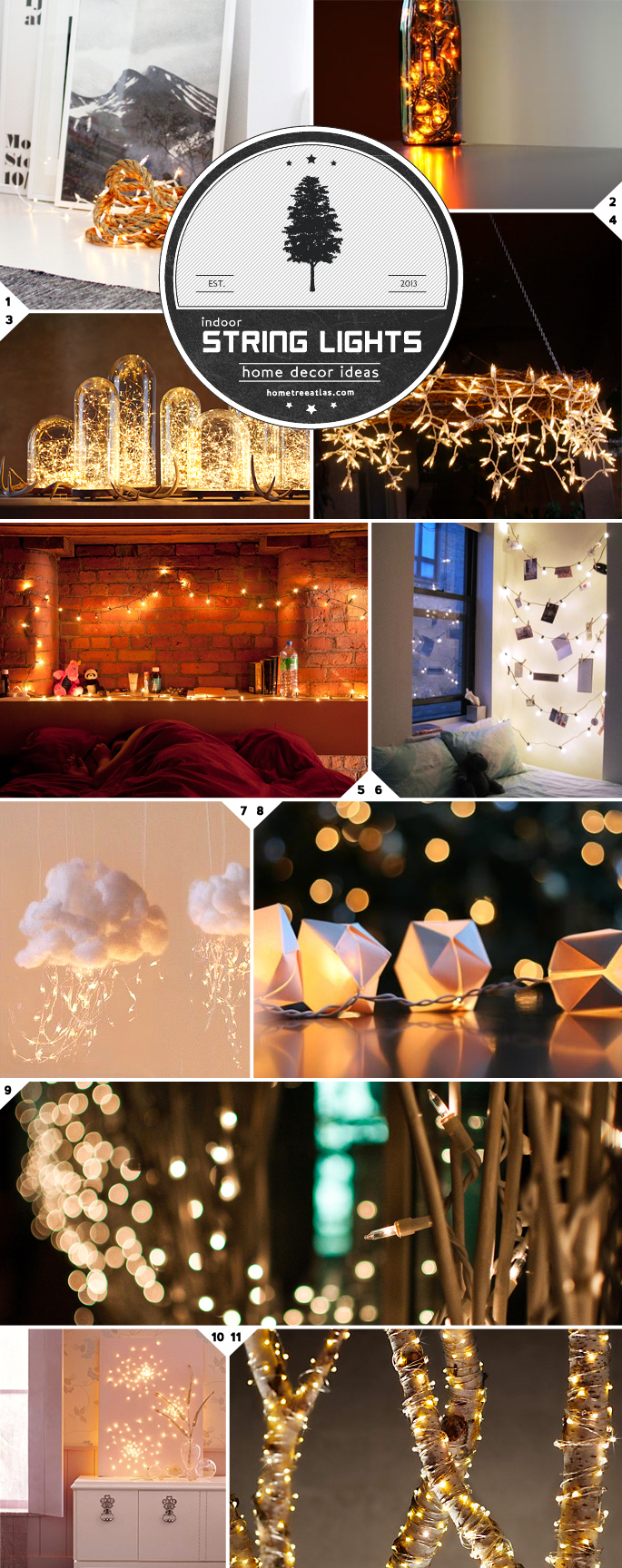 Indoor String Lights Decor Ideas