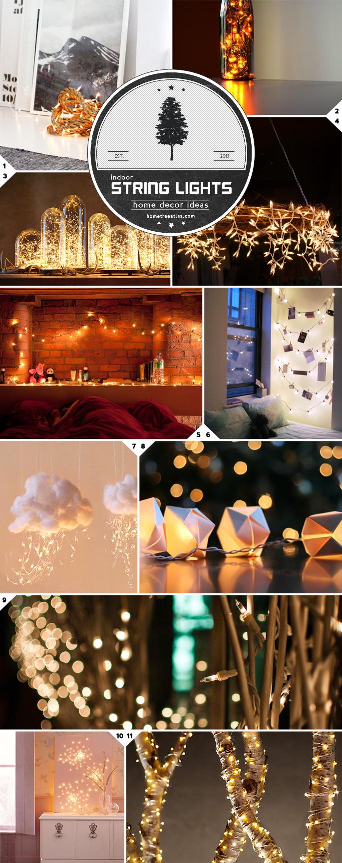 Indoor String Lights Decor Ideas