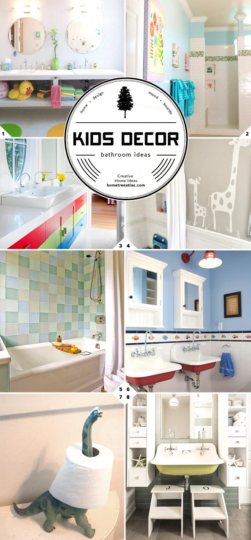 Kids Bathroom Decor and Design Ideas   Home Tree Atlas on Fun Bathroom Ideas  id=50780