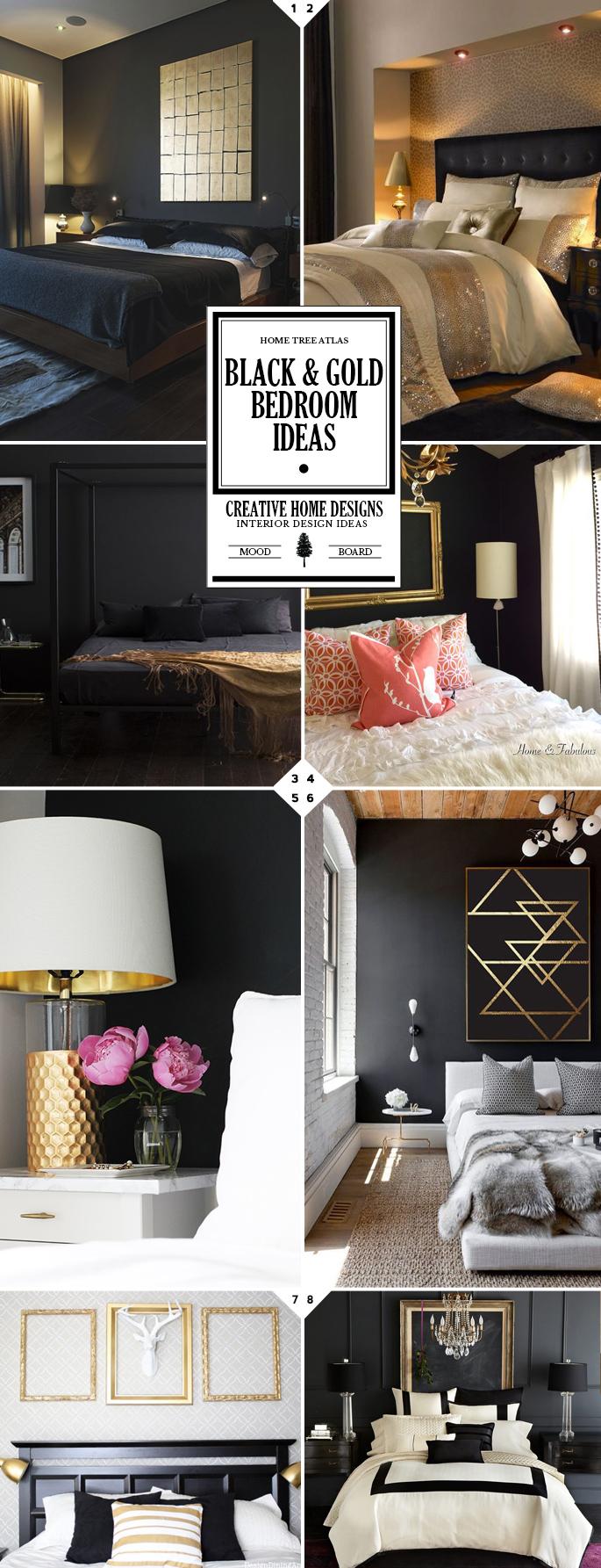 Bedroom Ideas Black White And Gold Novocom Top