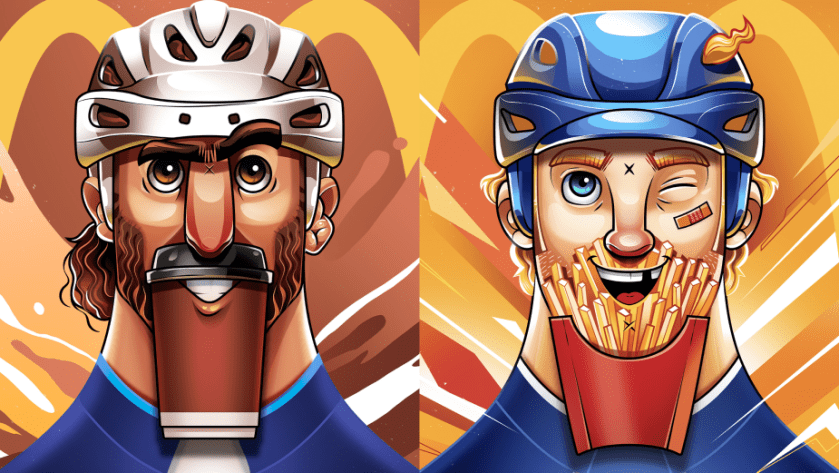 NHL Players' Iconic Beards Are Transformed into McDonald's Menu Items