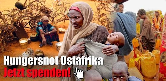 Hungersnot Ostafrika - Jetzt spenden!