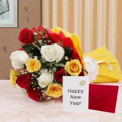 New Year Flowers and Greeting Cards Online   MyFlowerTree Colorful New Year Greetings