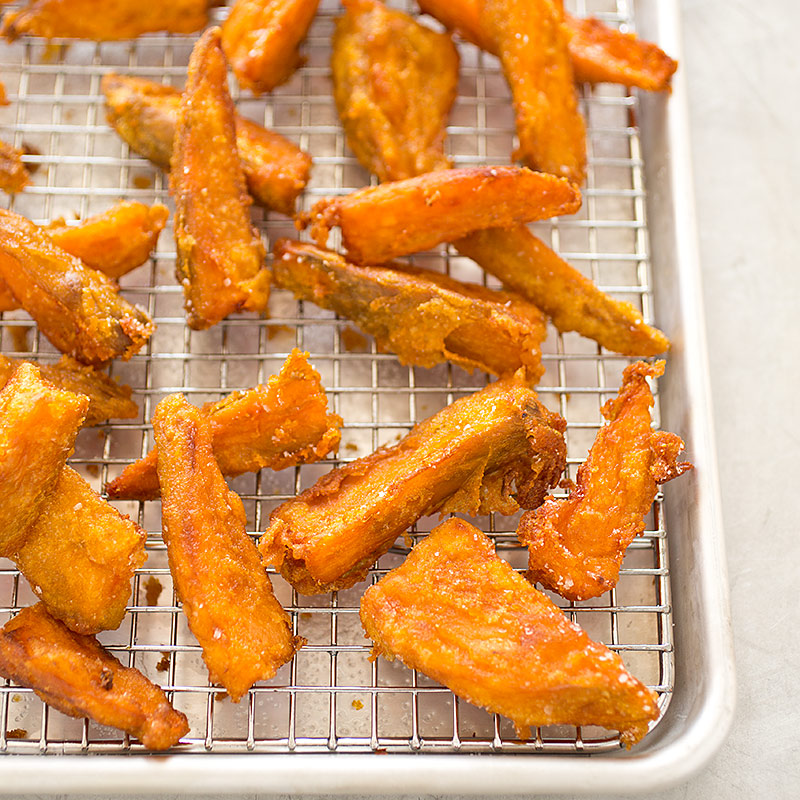 Thick Cut Sweet Potato Fries Recipe Cooks Illustrated