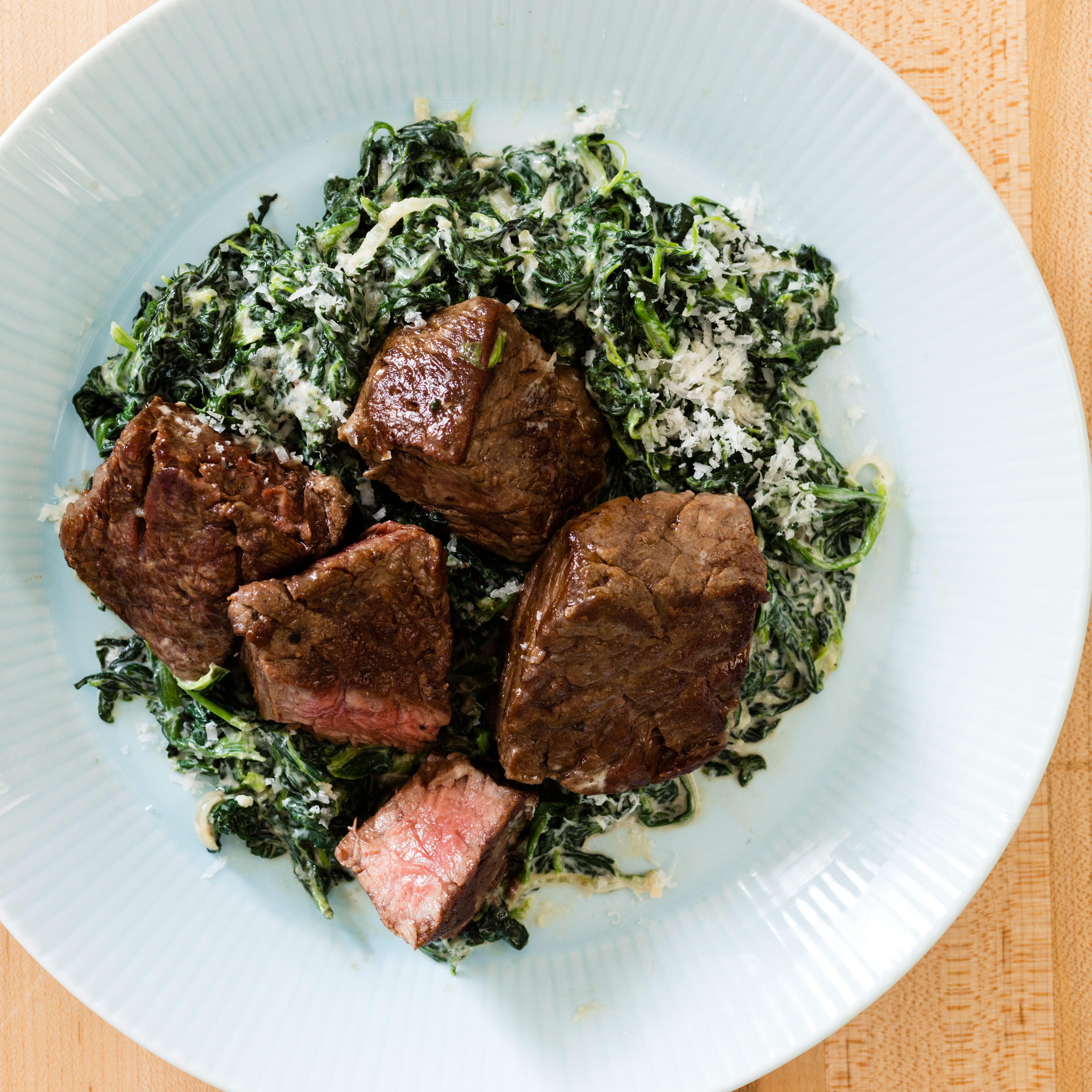 Sirloin Tips With Steakhouse Creamed Spinach Cooks Country