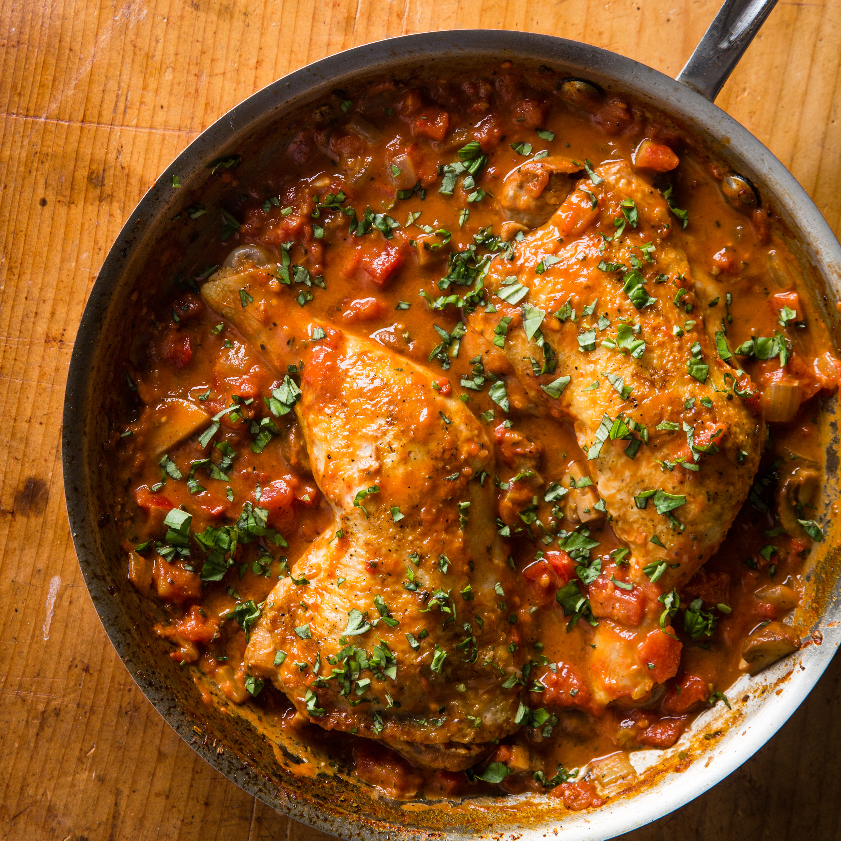 Chicken Cacciatore For Two Cooks Country