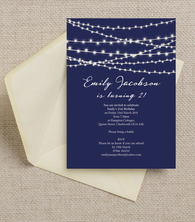 Beautiful Twenty First Birthday Invitations Photos - Invitation Card ...