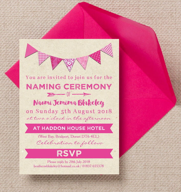 Personalised Printed Invitations