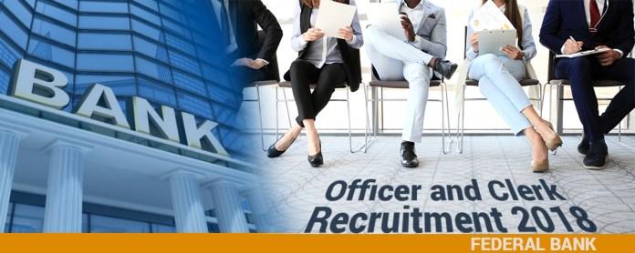 Federal Bank Recruitment 2018