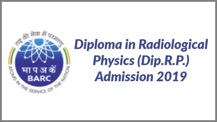 BARC Diploma admissions 2019