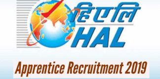 HAL Apprentice Recruitment 2019