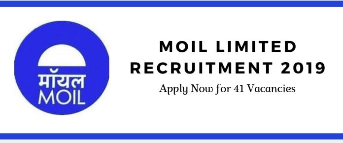 MOIL Limited Recruitment 2019