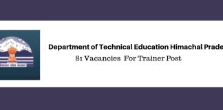 DTE HP recruitment 2019