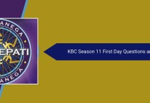 KBC Season 11 Questions Answers