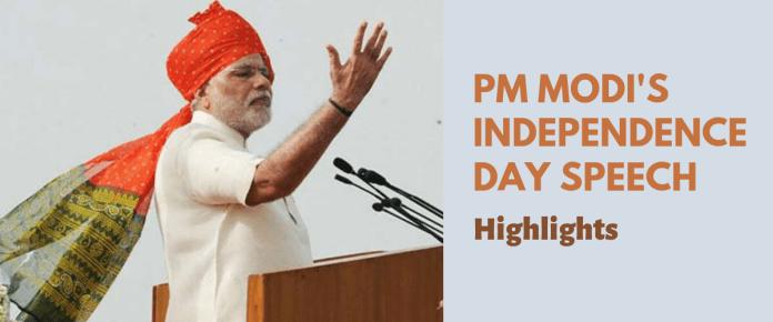PM Modi Independence Day Speech