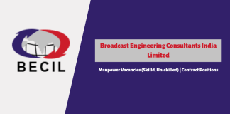 BECIL Recruitment 2019 for Contact Manpower