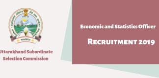 UKSSSC ESO Recruitment 2019