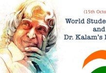 15th October - World Students' Day and Dr Kalam's Birthday