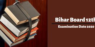 Bihar Board 12th Examination Date 2020