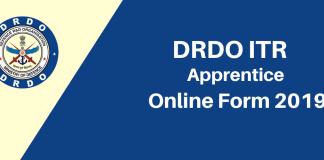 DRDO ITR Apprentice Online Form 2019