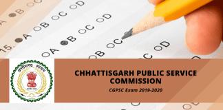 Chhattisgarh PSC (CGPSC) Online Form 2019
