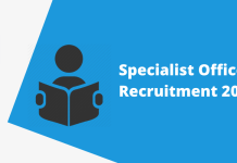 IBPS CRP Specialist Officer (SO) Recruitment 2020