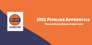 IOCL Pipeline Apprentice Online Form 2019
