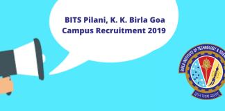 BITS Pilani, K. K. Birla Goa Campus Recruitment 2019 for Senior Engineer (Electrical)