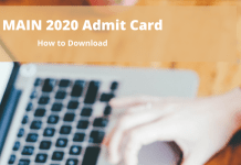 JEE Main 2020 Admit Card how to download