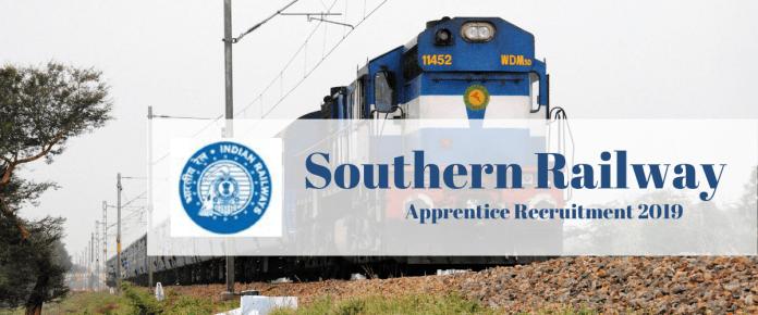 Southern Railway (SR) RRC Apprentice Recruitment 2019