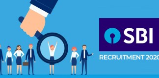 SBI recruitment 2020